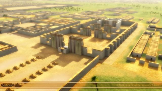 Tel el Amarna - Akhetaten. A 3d reconstruction