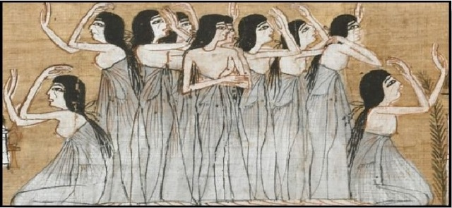 egipatske zene pogrebno tugovanje
